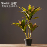 New Nordic Large Simulation Plants Potted Tropical Fake Plants Living Room Floor Bonsai Snnei Ornaments Decorative Home Goods