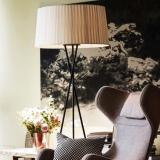 Latest Nordic Modern Round Floor Lamp White