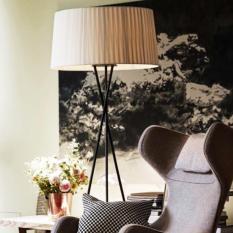 Nordic Modern Round Floor Lamp White On Singapore