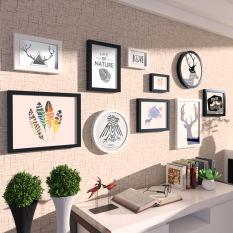 Simple European living room bedroom frame photo wall