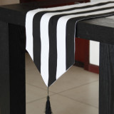 Buy Northern European Style Simple Black White Wave Pattern Table Runner Cheap On China