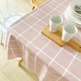 Great Deal Nordic Wind Pvc Waterproof Heat Resistant Oil Resistant Tablecloth Plaid Tablecloth