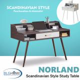 Norland Writing Desk Length 120Cm Black Walnut Free Install Delivery In Stock