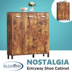 Best Deal Nostalgia Series Entryway Shoes Cabinet 3 Doors Free Install Delivery
