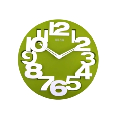 Novelty Hollow Out 3D Big Digits Kitchen Home Office Decor Round Shaped Wall Clock Art Clock Green For Sale