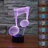 Best Novelty Music Note 3D Night Light 7 Color Change Led Table Lamp Intl