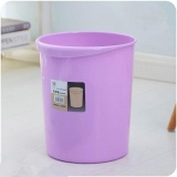 Best Ocean Medium Size Creative Sitting Room Kitchen Toilet Household Office Circular Plastic Trash Cans Purple Intl