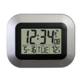 Buy Oh Self Setting Digital Home Office Decor Wall Clock With Indoor Temperature On Singapore