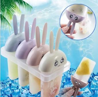 OIKEA Rabbit Style DIY Freezer Ice Cream Ice Lolly Juice Maker Pop Mold Mould Popsicle