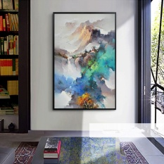 Oil Painting Canvas Printings Modern Abstract Home Decor Wall Art Picture for Living Room Painting Unframed 60x120cm - intl