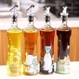 Oil Vinegar Bottles Suit Glass Leaky Oil Pot Continental Lead Free Oil Bottles Creative Kitchen Supplies Seasoning Bottles 2Pcs Intl Shopping