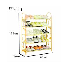 Metal Shoe Rack Storage 6 Tiers Easy to Assemble