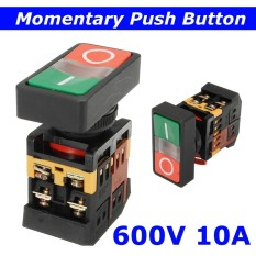 On/off Start Stop Momentary Push Button Pushbutton Switch Ac 600v 10a Green+red By Qiaosha.
