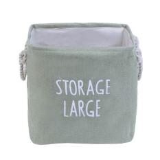 Uebfashion Organization Thicken Toy Desk Cotton Linen with Handle Storage(Green) - intl