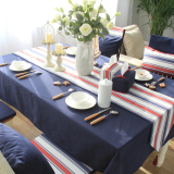 Price Original Dark Blue Modern Minimalist British Coffee Table Cloth Rectangle Table Cloth Tablecloth American Country Nordic Bugaboo Oem New