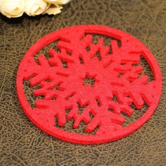 Oscar Store Christmas Snow Coasters Snowflake Place Mats Coffee Wine Cup Pad Tea Craft Xmas - intl