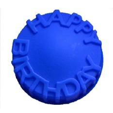 Oscar Store Practical High-quality Hot Sell 7 Happy Birthday Cake Circle Mold Chocolate Baking Tray Silicone Mould - intl