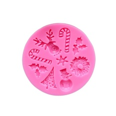 Oscar Store Practical High-quality Hot Sell Xmas Tree Santa Claus Cake Mold Mould For Lovely Soap Candy Chocolate Kid DIY - intl