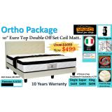 Cheapest Otho Package 10 Euro Top Double Offset Coil Mattress Bed Frame Black Online