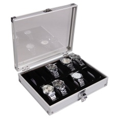 ouhofus Aluminium 12 Watch Display Case Box Wristwatch Showcase - intl