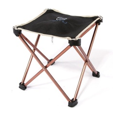 Outdoor Foldable Chairs Folding Fishing Picnic BBQ Garden Chair Tool Stool - intl (Black)