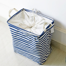 Mimosifolia Outdoor Garden Picnic Baskets Bathroom Folding Storage Bins With Cubes Archival Storage Boxes For Clothes Toy Boxes Laundry Basket Shelf Baskets Blue Stripes Intl Best Price