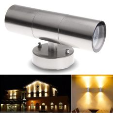 Best Reviews Of Outdoor Garden Up Down Light Ip65 Wall Light Stainless Steel Body 6W Led Globe