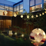 Price Comparisons Of Outdoor Solar Powered String Waterproof Lights 20 Ft Garland 30Led Fairy String Lights Bubble Crystal Ball Lights Decorative Lighting For Indoor Garden Home Holiday Decorations Intl