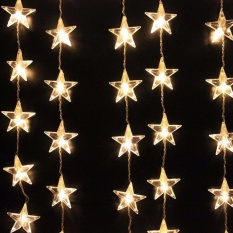 Outdoor Solar String Lights 6 Meter 20 LED Star Solar String Lights for Garden Patio Party Wedding Birthday Holiday Party Decoration (Warm White) - intl