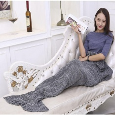 Cheapest Outdoor Traveling Fish Tail Blanket Yarn Knitted Handmade Crochet Soft Sleeping Tool Intl Online