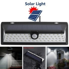 Outdoor Waterproof 66 LED 2835 SMD White Solar Power PIR Motion Sensor Wall Light with 3 Different Lighting Modes for Garden / Pathway / Yard - intl