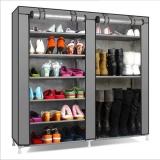 List Price Outlet Large Capacity Simple Dustproof Shoe Rack Storage Rack Grey Intl Oem
