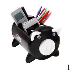 Pacii Creative Pigs Plastic Office Desktop Stationery Pencil Holder Makeup Pen Holder Cell Phone Remote Control Storage Box Organizer As Christmas Birthday Gift Intl Deal