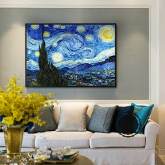 Painting Canvas Oil Prints Van Gogh Starry Night Abstract Wall Art Picture Home Decor Living Room Paintings 50x60cm - intl
