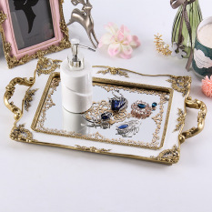 The Court Mirror gong ting feng Varved Tray Overstock
