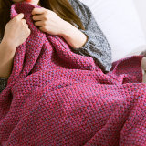 Brand New Palight Handmade Knitted Mermaid Tail Blanket Violet M