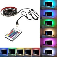 PAlight TV Backlight 5050 USB RGB MultiColor LED Strip Light Remote Control(size:4M) - intl Singapore