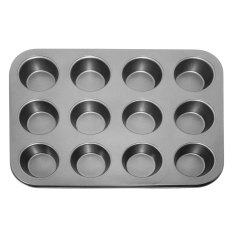 Buy Pan Muffin Cupcake Bake Cake Mould Mold Bakeware 12 Cups Dishwasher Safe Versatile Sturdy Intl Oem Original