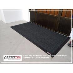 Passorex Waterproof PVC Coil Floor Mat with rubber edge PRXEME1186013 (Grey)