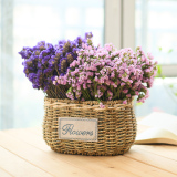 Pastoral Handmade Woven Flower Arrangement Portable Basket Rattan Baskets China