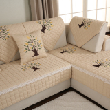 Pastoral Living Room Combination Of Solid Wood Leather Sofa Cushion Fabric Cotton Four Seasons General Slip Cushion Sofa Sets Cover Towel Best Buy