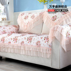 Compare Price Lace Fabric Sofa Towel Pastoral Sofa Cushion Oem On China