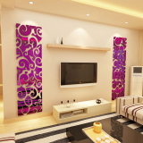 Sale Modern 3D Simple Pattern Bedside Tv Backdrop Decorative Adhesive Paper Wall Sticker Oem Online