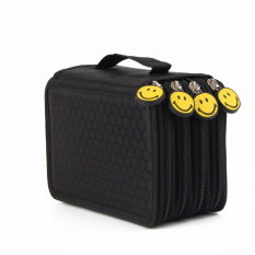 Pen Storage Bag 72 Inserting Large Capacity 4 Layers Pencil Holder Case Black Intl Promo Code