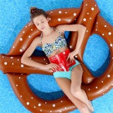 Deals For People 60 Inch Summer Gigantic Donut Chocolate Swimming Pool Inflatable Floats Pool Toys Doughnut Swim Ring Water Beach Toys Intl