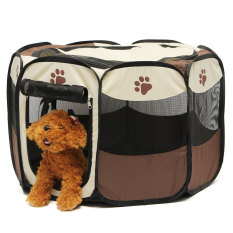 Pet Home Fence Dog Bed Kennel Play Pen Puppy Soft Playpen Exercise Run Cage Folding Crate Export Deal