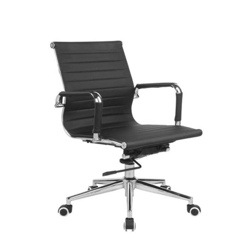 Conference Office Chair; Metal armrest and leg base (PU Leather); adjustable gaslift; classic elegeant chair design Singapore