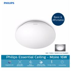 Philips 33362 Moire 6500K Cool Daylight (white light effect) LED Ceiling Light 16W / 1100lm (Brightness = Traditional 85W)