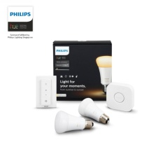 Brand New Philips Hue White Ambiance Starter Kit 1X Bridge 2X White Ambiance Bulbs 1X Dimmer Switch New