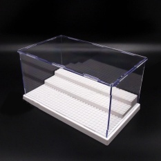 For Sale Photo Uk Acrylic Display Box For Lego Minifigures Case Plastic 3Steps White Base Block Intl